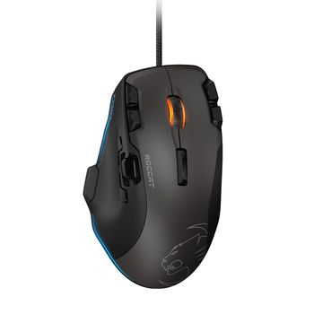 ROCCAT Tyon (Black) / All Action Multi-Button Gaming Mouse, up to 8200pi, 14 programmable buttons, Pro-Aim (R3) Laser sensor, 16.8M Multi-color illumination, ARM MCU+ onboard nemory, X-Celerator thumb paddle, EASY-SHIFT[+]™, USB
