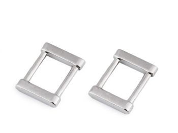 Inel metalic dreptunghiular/Cataramă, lățime 15 mm / nichel