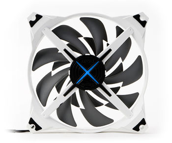 "140mm Case Fan - ZALMAN ""ZM-DF14"" Premium Dual Impeller Case Fan with Blue LED, 140x140x27mm, 600-1200rpm, <16.5~28dBa, 63CFM, Long Life Bearing, 3Pin, RPM Speed Controller (3 Step FAN Control), Anti-vibration fan housing & silicone pin"