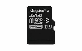 32GB microSD Class10 A1 UHS-I  Kingston Canvas Select Plus, 600x, Up to: 100MB/s