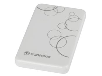 """2,0 ТБ (USB3.1) 2,5 """"Transcend"""" StoreJet 25A3 """", белый, Anti-Shock, резервное копирование в одно касание"""