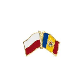 купить Значок - Флаг Польша & Молдова в Кишинёве