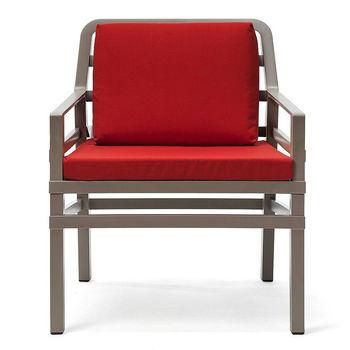 Кресло с подушками Nardi ARIA TORTORA cherry 40330.10.065.065 (Кресло с подушками для сада и терас)