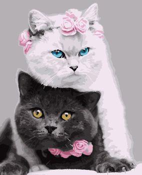 """PN4210 Картина по номерам Artissimo """"Кошки"""", 4 *, 15 цветов, 40x50 см"""