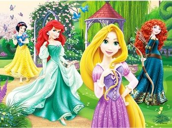 "18172 Trefl Puzzles-""30"" - Rapunzel, Merida, Ariel and Snow White / Disney Princess"