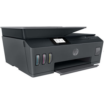 Multifunctional inkjet MFD CISS HP Smart Tank 500, Black/Gray, A4, up to 11ppm/5ppm black/color, up to 4800x1200 dpi,  Scan 1200 x 1200, Up to 800 p/m, 800Mhz, 256 Mb, 7 segment LCD, Hi-Speed USB 2.0, (3*GT53XL Black 135ml, 1*GT52 C/M/Y)
