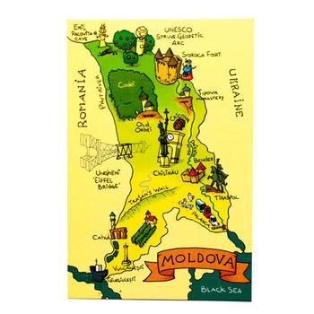 cumpără Почтовая Открытка – Карта Молдовы în Chișinău