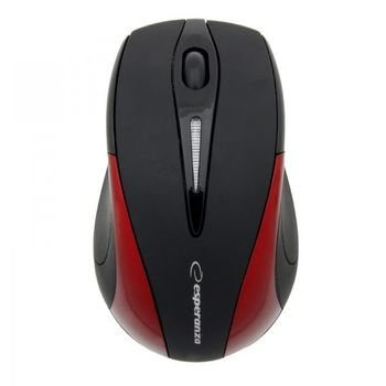 Esperanza EM101R, Wireless Optical Mouse, 2.4GHz, Nano Reciver, USB, Black/Red