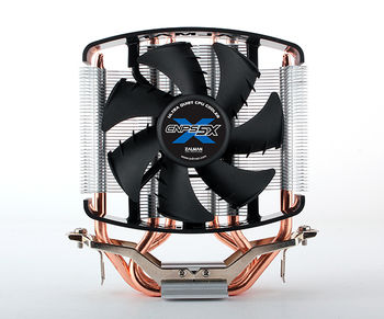"""ZALMAN Cooler  """"CNPS5X PERFORMA"""", Socket 775/1150/1151 & FM2/FM1/AM3+, up to 100W, 92х92х25mm, 1350~2700rpm, 20~32 dBA, 4 pin, PWM,  Shark Fin Blade Fan, Fluid Shield Bearing, 3 heatpipes direct contact, included Thermal Grease (ZM-STG2M)"""