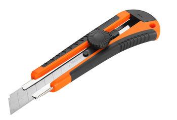 купить Нож с отламываемым лезвием 18мм  пластик зажим винт Wokin в Кишинёве