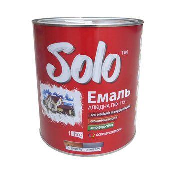 Solo Эмаль ПФ-115 Белая 0.9кг