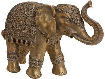 """Статуэтка """"Слон в накидке"""" керамическая 26.5cm, золотой"""