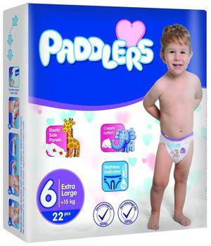 Подгузники Paddlers Standart №6 XLarge +15kg 22