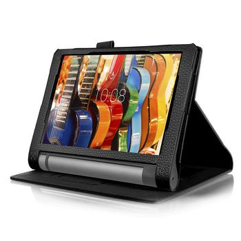 "8.0""  Lenovo Yoga Tablet 3  8   (8.0"" IPS 1280x800, Snapdragon 210 QuadCore 1.3Ghz, 1GB RAM, 16GB, GPS, 8MPx Cam, WiFi-N/BT4.0, Dolby® Atmos™, MicroUSB (OTG) up 128GB, MicroSD, Android 5.1, 6200mAh up to 20hr, Slate Black, 420g)"