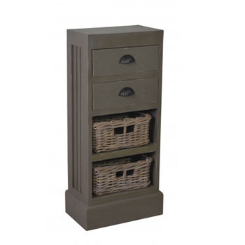 cumpără Comodă cu 2 sertare şi 2 coşuri Smoke Grey 410x240x900 mm în Chișinău