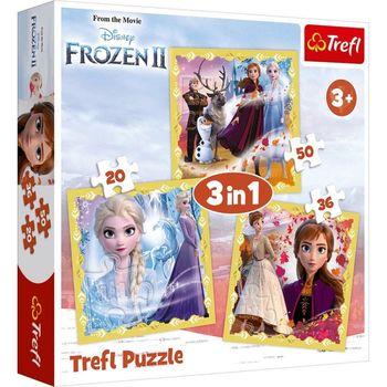 "Пазлы ""3в1"" - The power of Anna and Elsa / Disney Frozen II, код 43158"