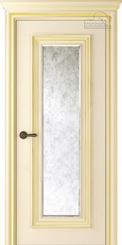 купить Дверь ПАЛАЦЦО 1 слоновая кость патина золото остекленная в Кишинёве