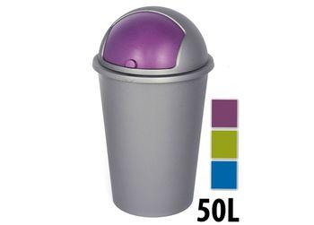 Ведро для мусора с плаваяющей крышкой 50l, пластик