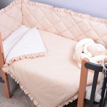 купить Veres Комплект для кроватки Macaroon Vanilla, 6 штк в Кишинёве
