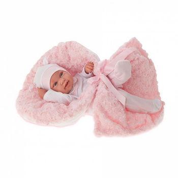 Кукла младенец Эдуардa с одеяльцем 42 см Код 5006