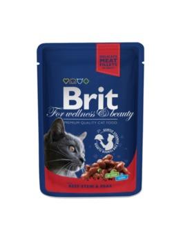 купить Brit Premium Cat Pouches with Beef Stew & Peas (Кусочки с рагу из говядины и горошком. Влажный корм класса премиум для взрослых кошек.) в Кишинёве