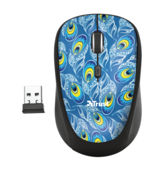 Wireless Mouse Trust Yvi, Peacock