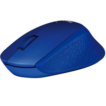 Mouse Logitech Wireless M330 Silent Plus Blue, Optical Mouse for Notebooks, nano receiver, Blue, 910-004910