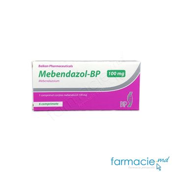 купить Mebendazol-BP comp. 100 mg  N6 (Balkan) в Кишинёве