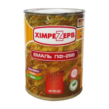 Химрезерв Эмаль ПФ-266 Желто-коричневая 1кг