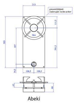 Газовая панель Reginox Abeki 1-Pitt