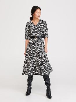 Платье RESERVED Черно-белый xq206