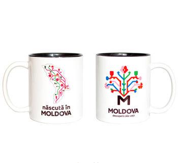 cumpără Кружка в черном оформлении – nascută in Moldova în Chișinău