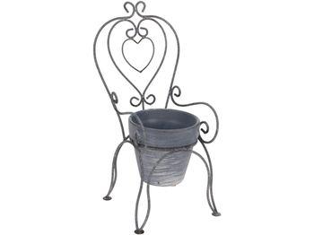 """Кашпо для цветов """"стул"""" 17X18.5X34.5cm,металл"""