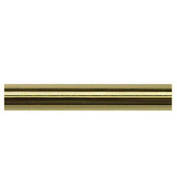 Delfa Труба карнизная гладкая золотистая 2,4м