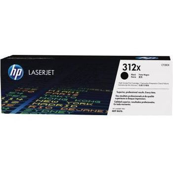 HP 312X (CF380X) High Yield Black Original LaserJet Toner Cartridge (up to 4400 pages), for  HP LaserJet Pro M476 Series