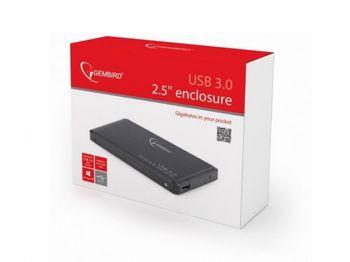"""Внешний корпус 2,5 """"SATA HDD (USB 3.0), черный, Gembird"""" EE2-U3S-2 """""""