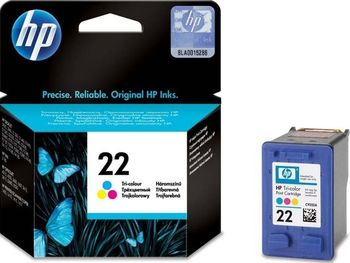 HP No.22 Colour Ink Cartridge (5ml) 170pages