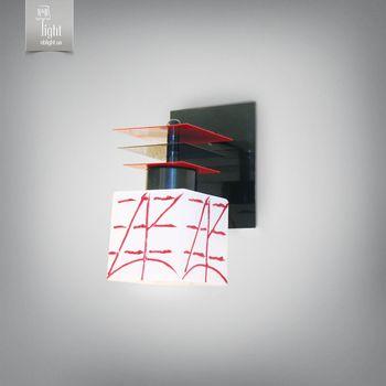 N&B Light Бра Пиастра 7401-1 черный глянец/красный глянец