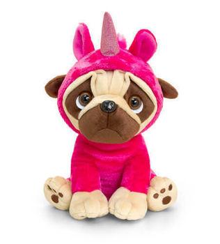 Pug în costum de unicorn 20 cm, cod 42890