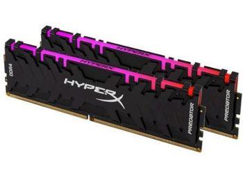 16 ГБ DDR4-4266 МГц Kingston HyperX Predator RGB (комплект из 2x8 ГБ) (HX442C19PB3AK2 / 16), CL19, 1,4 В, черный