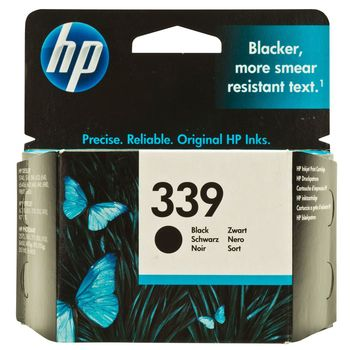 HP No.339 Black Inkjet Print Cartridge (21ml), prints 800 pages at 5% coverage
