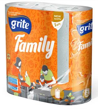 купить GRITE -  Полотенце кухонное Family 2 слоя 2 рулона 14.94м в Кишинёве