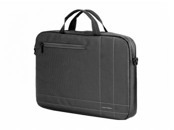 "Continent NB bag 15.6"" - CC-201 GA, Black/Grey, Top Loading"