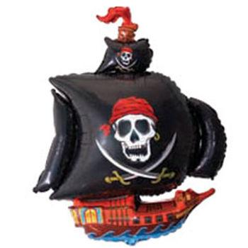 купить Шарик с Гелием - Пиратский Корабль - Черний в Кишинёве