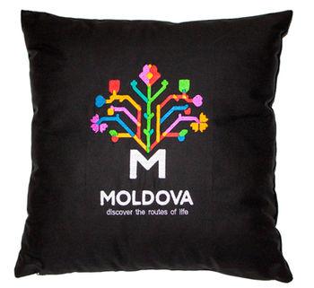 купить Декоративная подушка Молдова – 50x50 см в Кишинёве