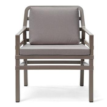 Кресло с подушками Nardi ARIA TORTORA grigio 40330.10.163.163 (Кресло с подушками для сада и терас)