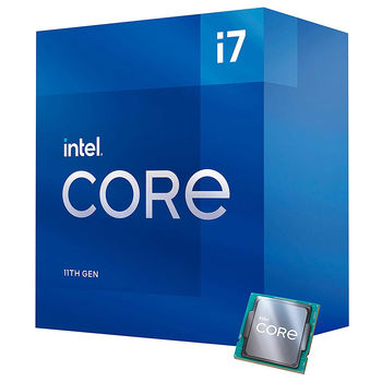 Процессор CPU Intel Core i7-11700 2.5-4.9GHz 8 Cores 16-Threads, vPro (LGA1200, 2.5-4.9GHz, 16MB, Intel UHD Graphics 750) BOX with Cooler, BX8070811700 (procesor/Процессор)