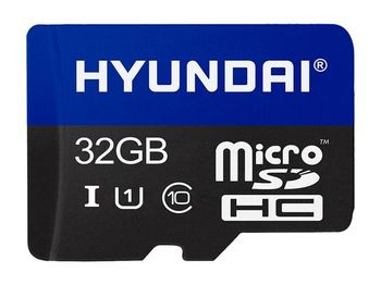 32GB microSD Class10 UHS-I + SD adapter  Hyundai Technology, Up to: 25MB/s