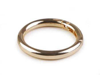 Inel carabină, Ø34 mm / auriu