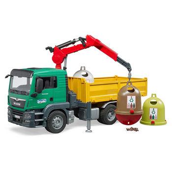 Мусоровоз MAN TGS с тремя контейнерами, код 43262